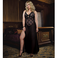 Sheer top gown and thong