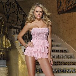 French frills babydoll and thong - babydoll and panty set