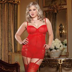 Red midnight mistress chemise