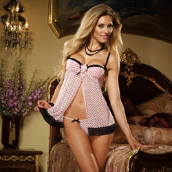 Oh so naughty babydoll and thong - babydoll and panty set