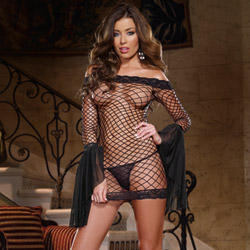 Fence net dress and thong - mini dress