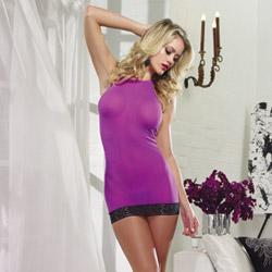 Mesh halter chemise