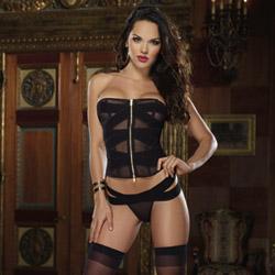 Tatiana corset and thong