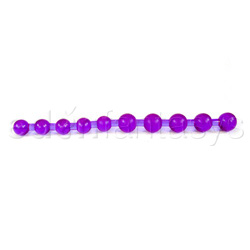Beads - Purple anal jelly beads - view #2