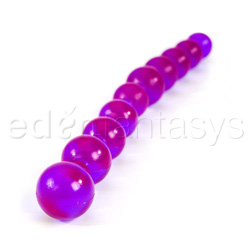 Beads - Purple anal jelly beads - view #3