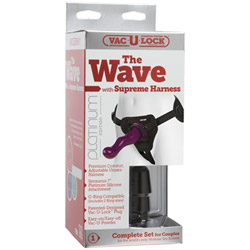 Harness and dildo set - The wave with supreme harness - view #3