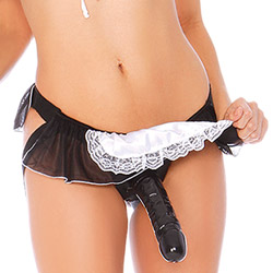 Double strap harness - Diva Dreams flirty french maid with dong - view #2