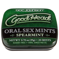 Good head oral sex mints - edible powder