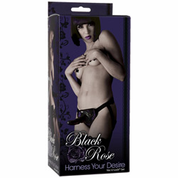 Harness and dildo set - Black Rose harness your desire - view #2