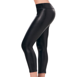 Black metallic leggings - sexy lingerie