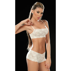 Nude lace panty and bra set - bra and panty set