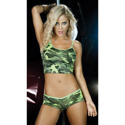 Camouflage short and cami set - camisole set