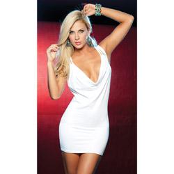 White strapped back dress - maxi dress