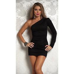 One shoulder silhouette - mini dress