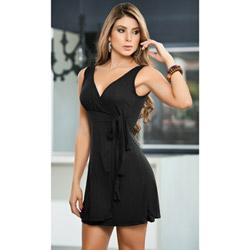 Black elegant dress - mini dress