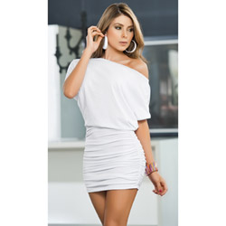 White off shoulder dress - mini dress