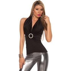 Black ravishing cleavage top