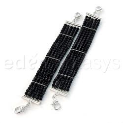 Wrist cuffs - Plaisir nacre black pearl cuffs - view #4