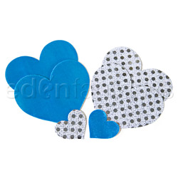 Something Blue heart pasties - pasties set