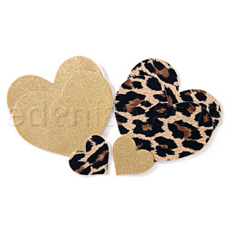 Leopard heart pasties
