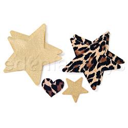 Leopard star pasties - pasties set
