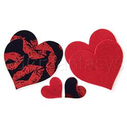 Hot lips heart pasties - pasties set