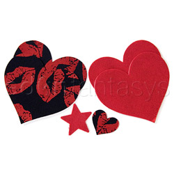 Hot lips heart pasties - pasties set