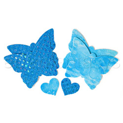 Light blue butterfly pasties - pasties set