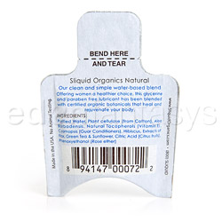 Lubricant - Sliquid organics natural - view #2
