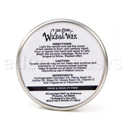 Massage candle - Sex kitten wicked wax - view #3