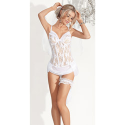 Bride bustier set