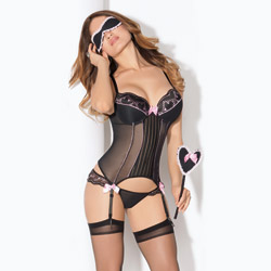 Couture love set with hose - camisole set