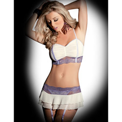 Spring meadow four piece set - bra and panty set