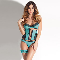 Bra waist cincher set - bra and panty set