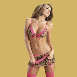 4pc set with hose - bra and panty set
