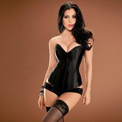 Black Tesa`s sweetheart corset - sexy lingerie