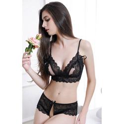 Flirt peek-a-boo bra set