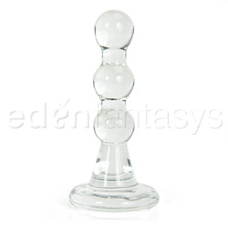 Pleasure pearls butt plug - glass plug
