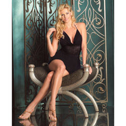 Athena lace babydoll - chemise and panty set