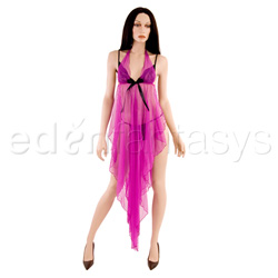 Pink gown with g-string