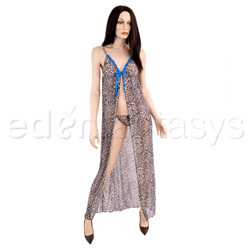 Leopard print gown with g-string