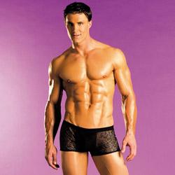 Male undies - Spider fishnet shorts - view #2