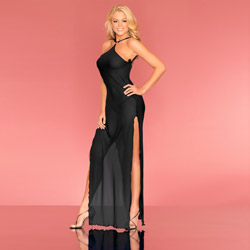 Loungerie gown and g-string