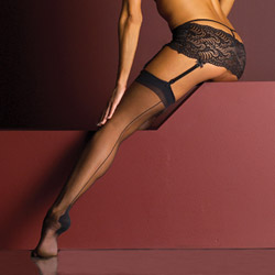 Cuban heels stocking - hosiery