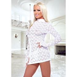 Mini lace dress - mini dress