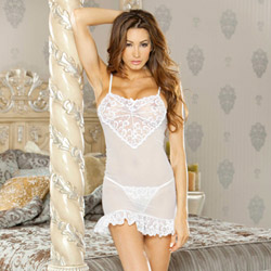 Honeymoon sweet heart babydoll - babydoll and panty set