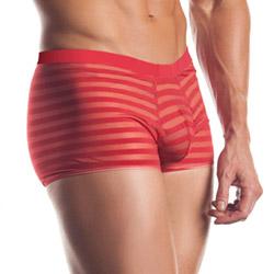 Striped mesh boxer