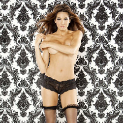 Vintage doll lace booty short purple - sexy panties