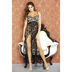 Nude affair lace long gown