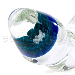 Glass G-spot shaft - Flower marble - view #4